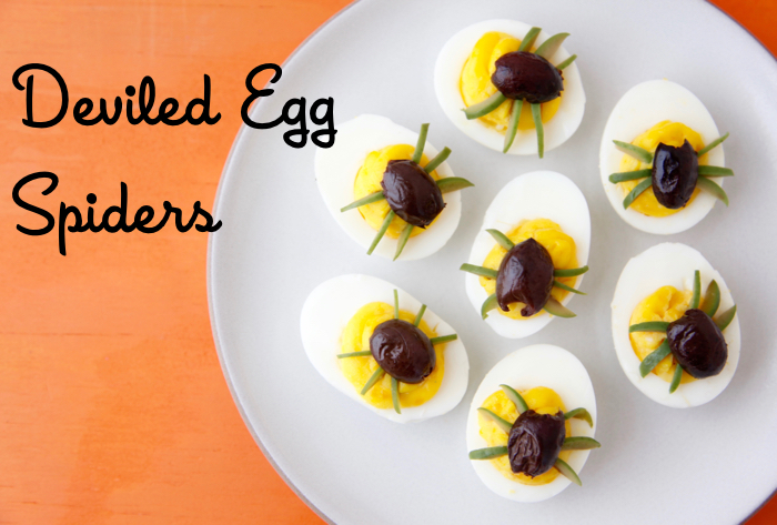 deviled egg spiders from weeliciouscom - Deviled Eggs For Halloween Spider