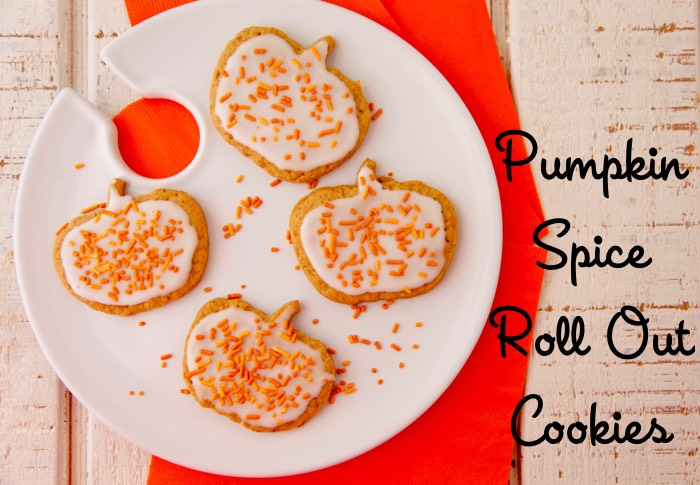 Pumpkin Spice Roll Out Cookies from weelicious.com