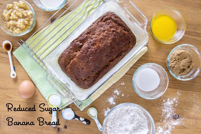 Reduced Sugar Banana Bread from weelicious.com