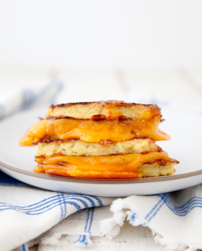 Cauliflower Crusted Grilled Cheese video from weelicious.com
