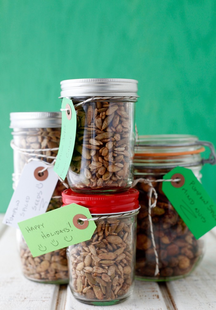 Pumpkin Spiced Mixed Nuts and Seeds from weelicious.com