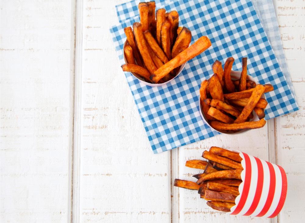 Cinnamon Sweet Potato Fries from weelicious.com