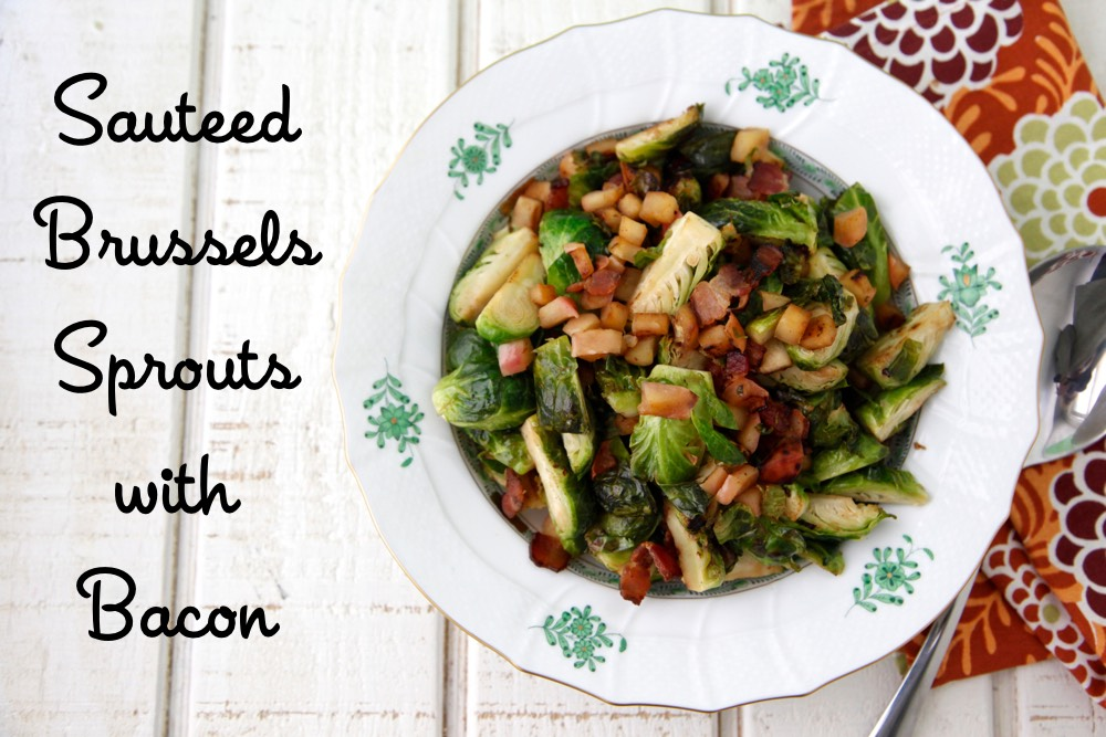 Sauteed Brussels Sprouts with Bacon video from weelicious.com