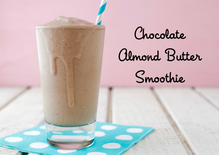 Chocolate Almond Butter Smoothie from weelicious.com