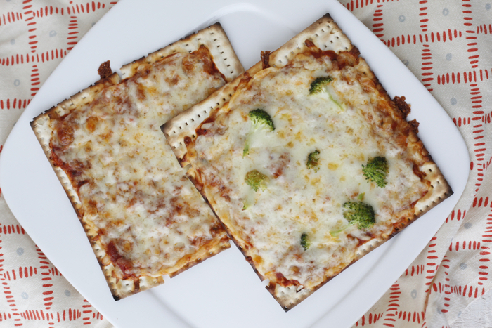 Matzah Pizzas recipe from weelicious.com