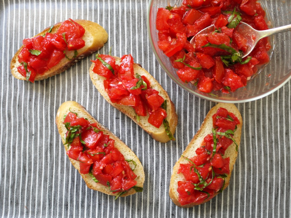 Tomato Bruschetta recipe from weelicious.com