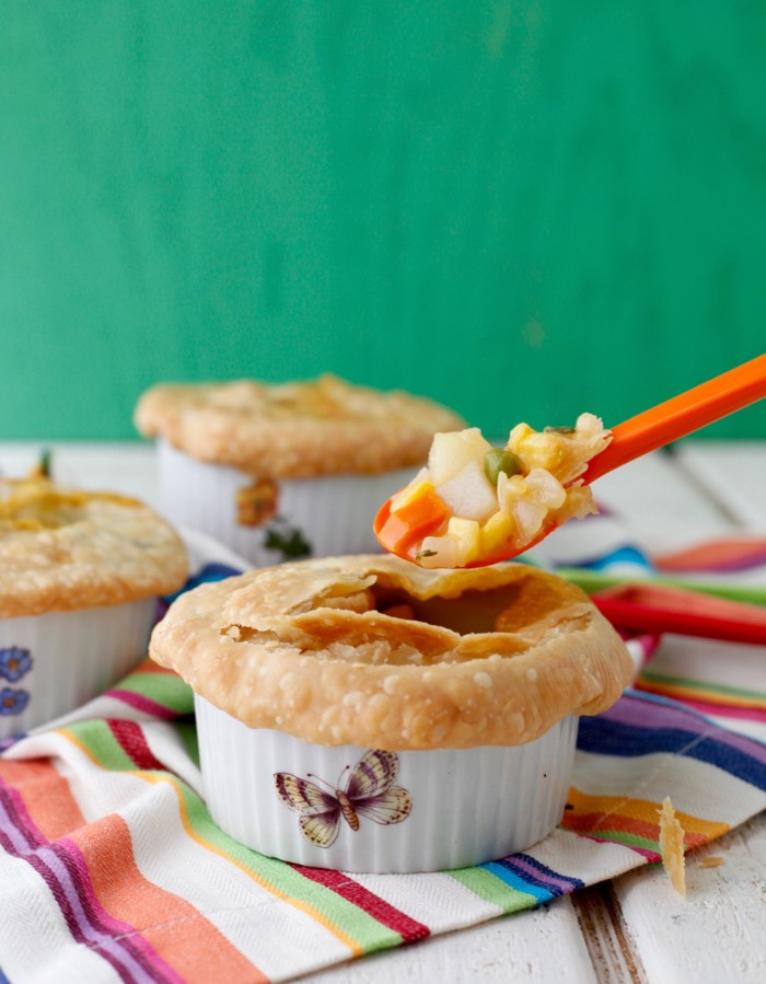 Vegetarian Pot Pie recipe from weelicious.com