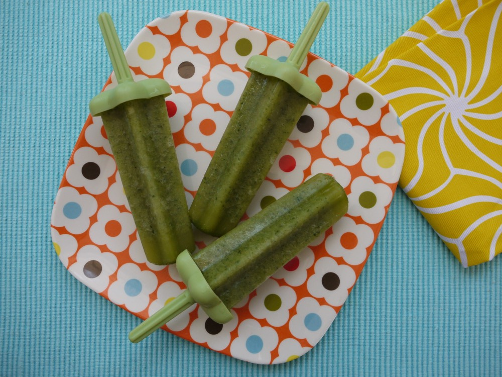 Green Ice Pops from weelicious.com