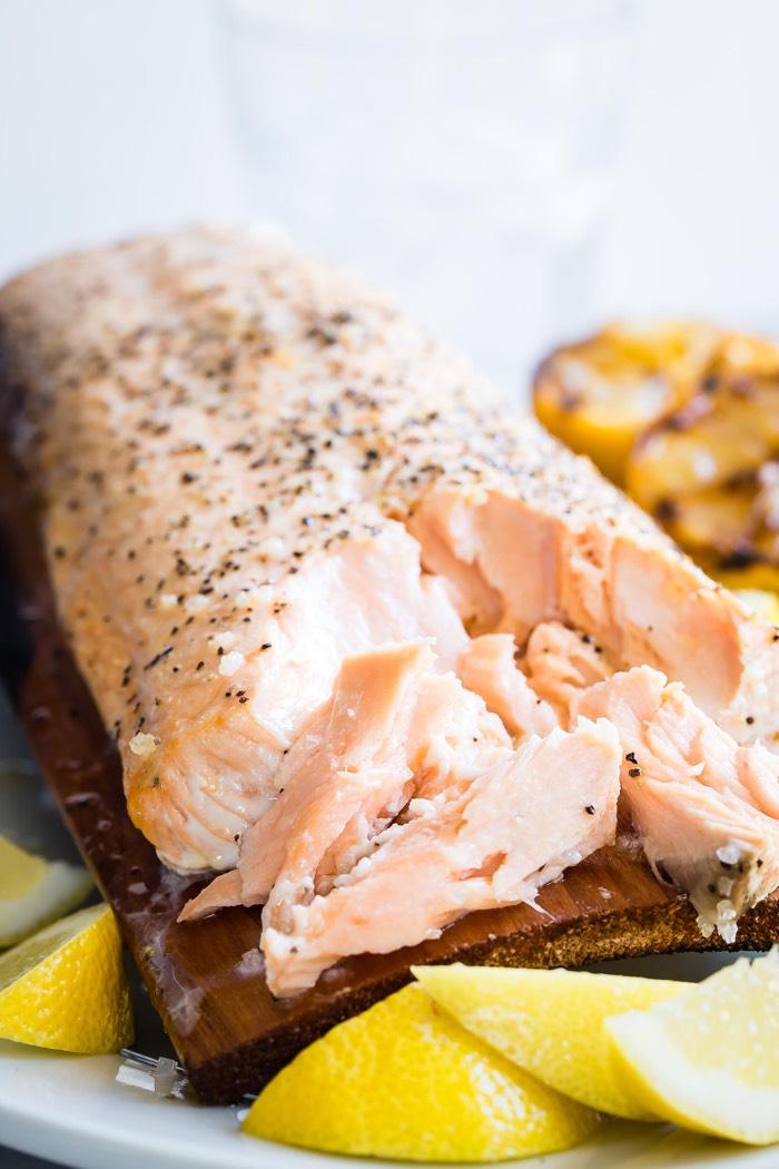 Cedar Plank Salmon from weelicious.com