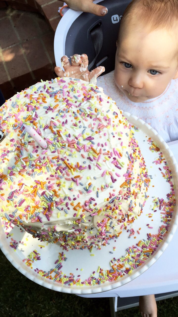 Dye Free Sprinkle Smash Cake from weelicious.com