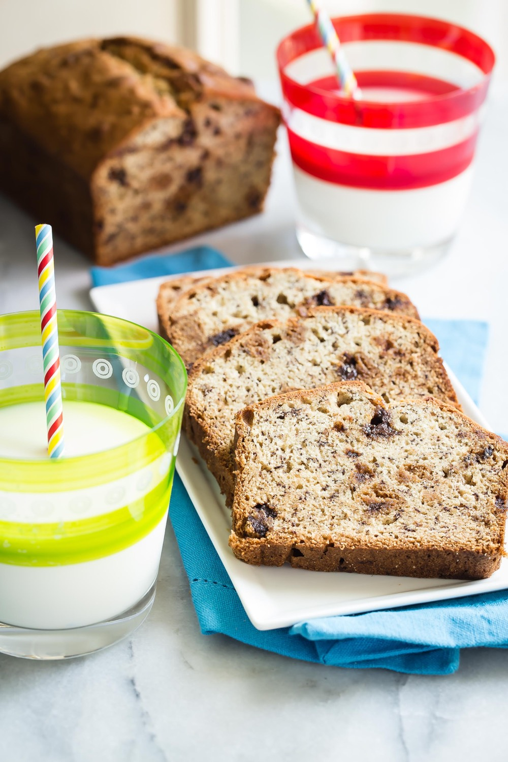 Banana Chocolate Chip Cookie Bread from weelicious.com