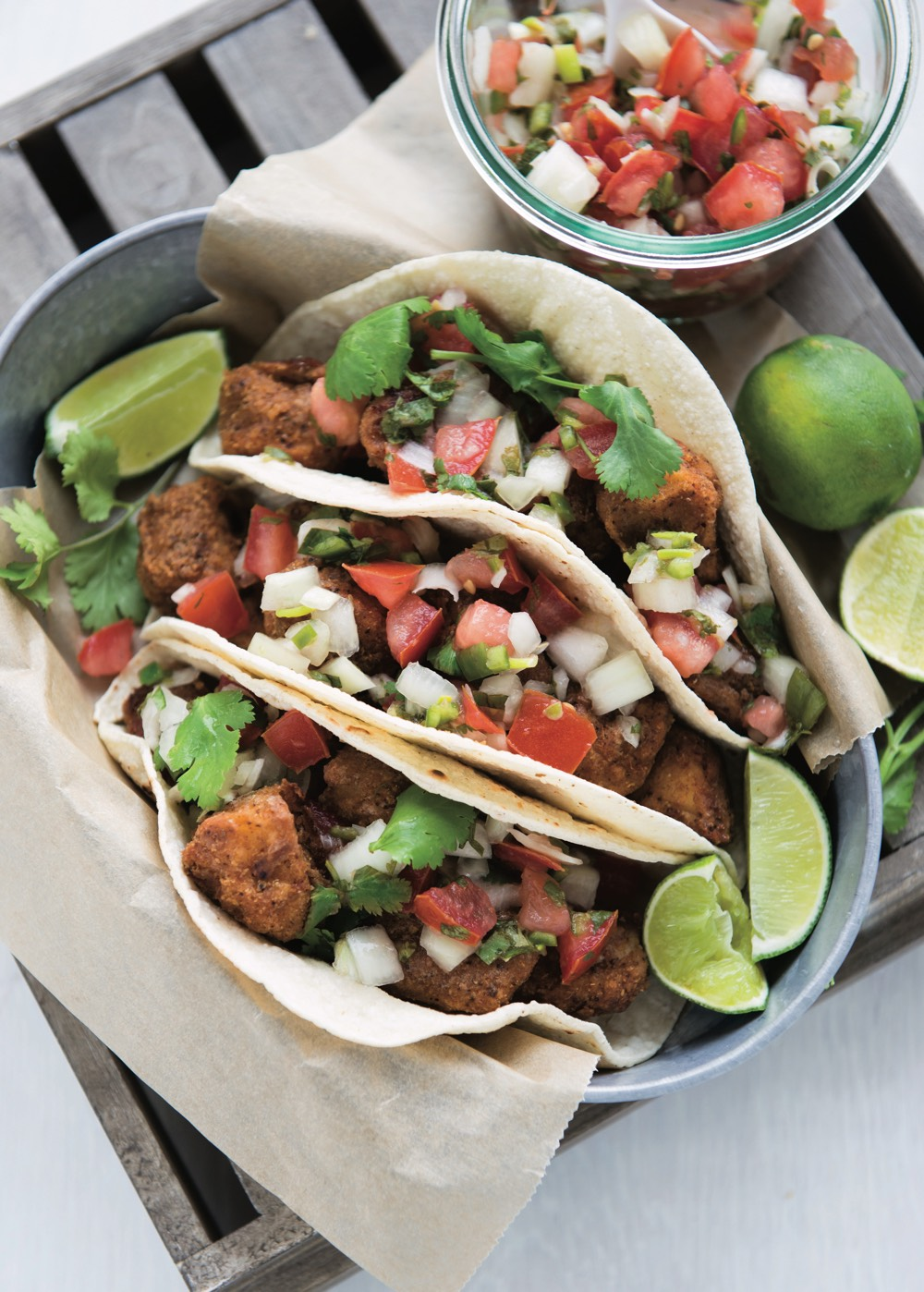 Fish Tacos + 100 Days of Real Food cookbook giveaway from weelicious.com