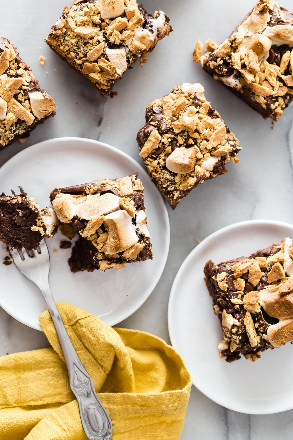 Smores Cakey Black Bean Brownies from weelicious.com