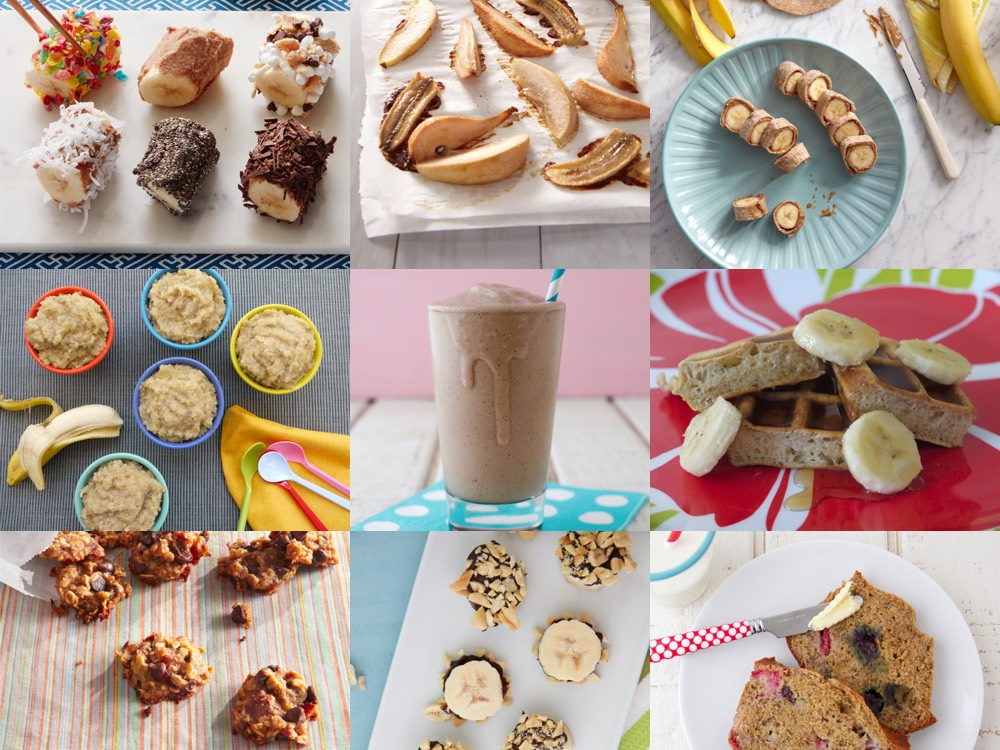 10 Ways to Use Ripe Bananas from weelicious.com