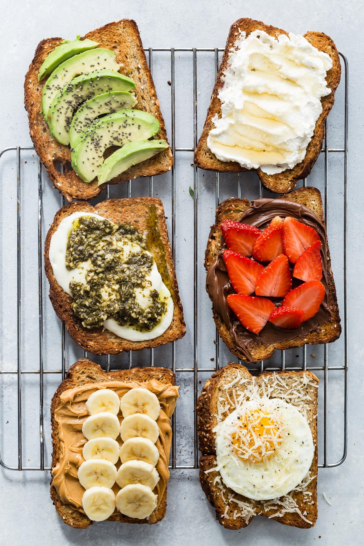 2 Ingredient Toast 6 Ways from weelicious.com